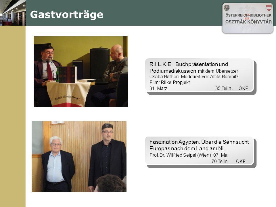 Gastvorträge R.I.L.K.E. Buchpräsentation und Podiumsdiskussion mit dem Übersetzer Csaba Báthori.
