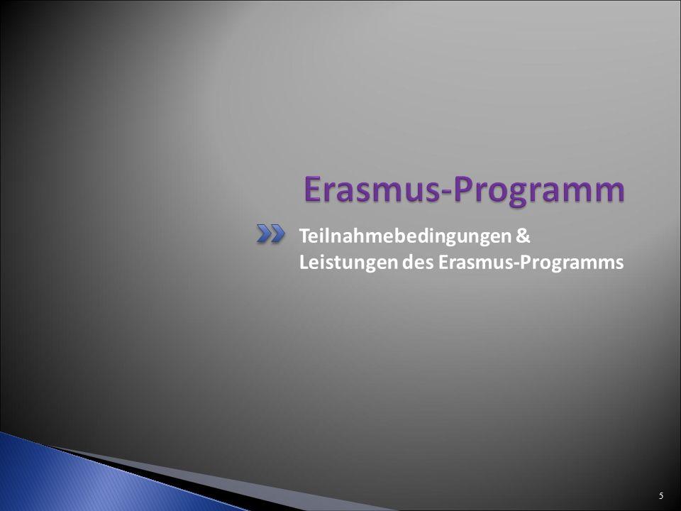 Teilnahmebedingungen & Leistungen des Erasmus-Programms 5