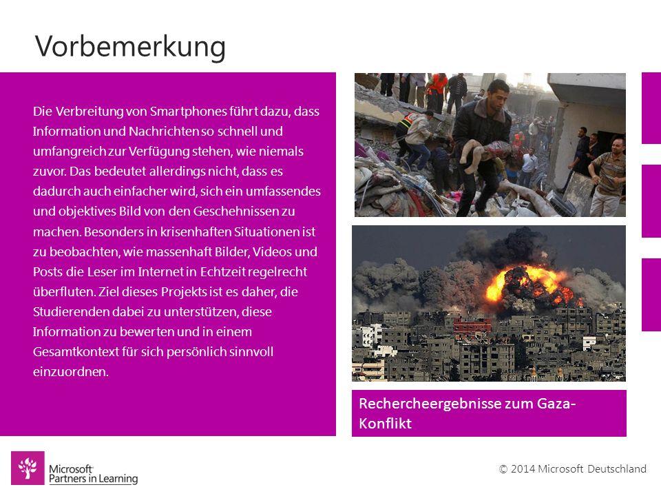 © 2014 Microsoft Deutschland Vorbemerkung Die Verbreitung von Smartphones führt dazu, dass Information und Nachrichten so schnell und umfangreich zur Verfügung stehen, wie niemals zuvor.