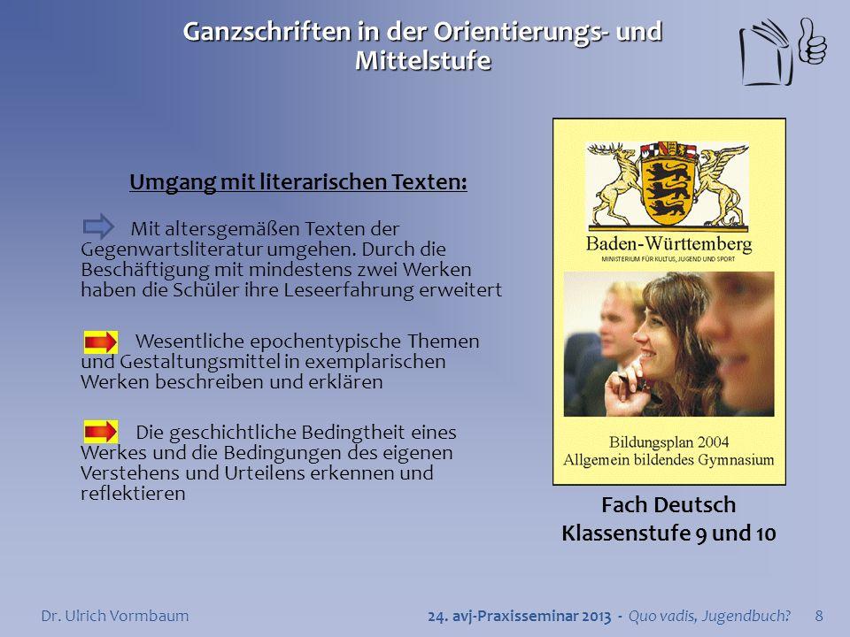 Ganzschriften in der Orientierungs- und Mittelstufe 24.