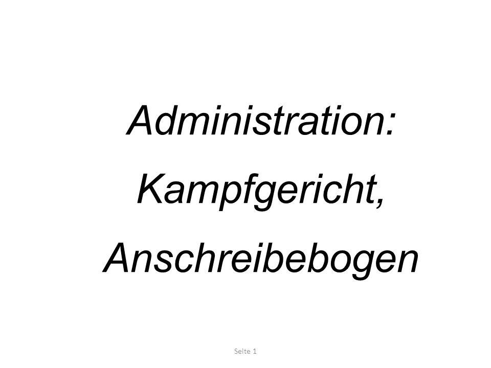 Administration: Kampfgericht, Anschreibebogen Seite 1