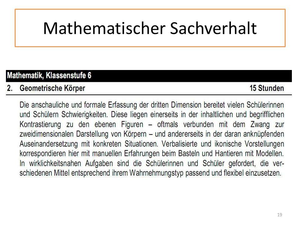 Mathematischer Sachverhalt 19