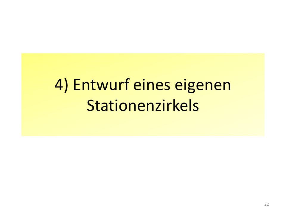 4) Entwurf eines eigenen Stationenzirkels 22