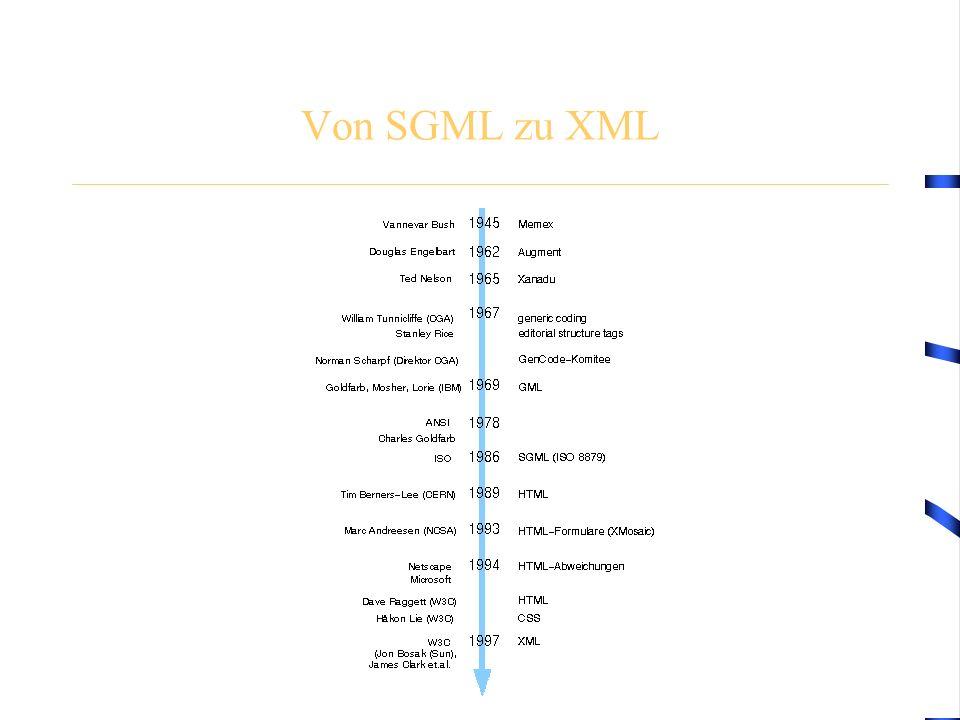 Von SGML zu XML