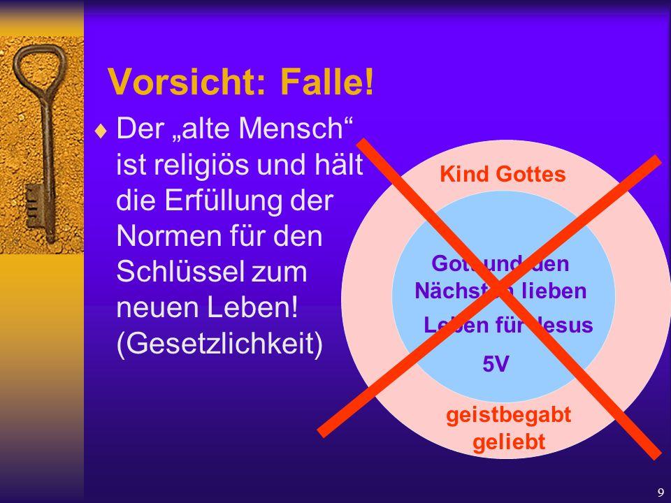 """9 Vorsicht: Falle!  Der """"alte Mensch"""" ist religiös und hält die Erfüllung der Normen für den Schlüssel zum neuen Leben! (Gesetzlichkeit) Kind Gottes"""
