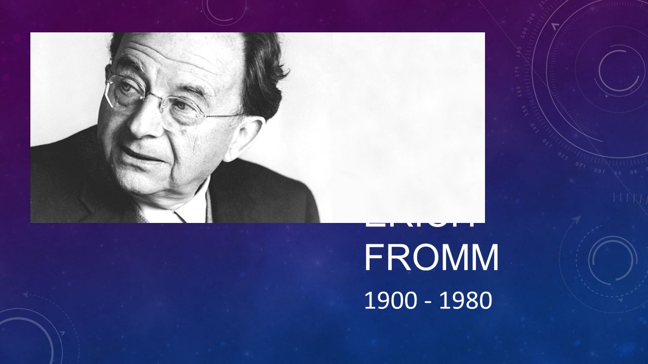 ERICH FROMM 1900 - 1980
