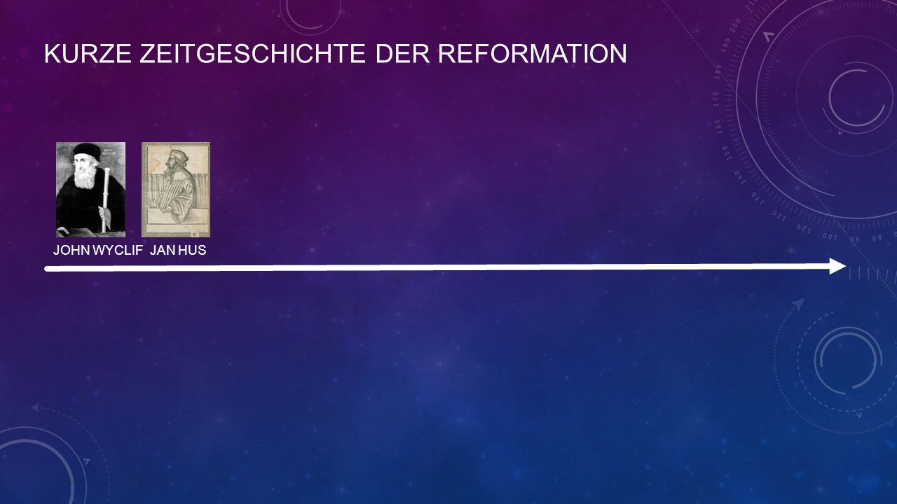 KURZE ZEITGESCHICHTE DER REFORMATION JOHN WYCLIF JAN HUS
