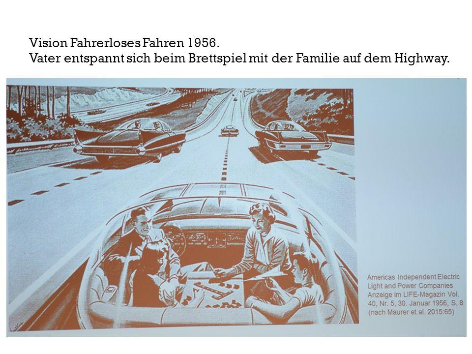 Vision Fahrerloses Fahren 1956.