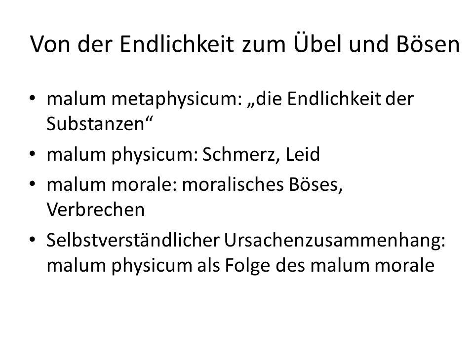 Übel/Leiden als natürliche Folge des Bösen Das moral.