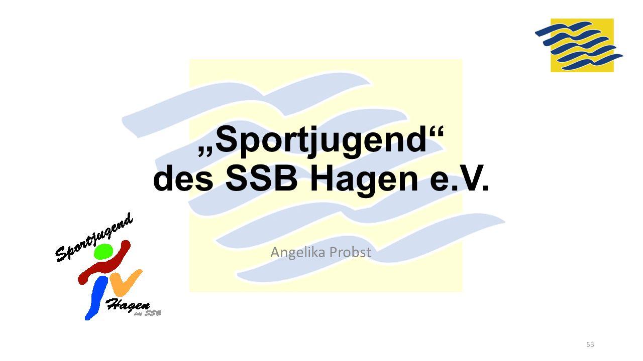 """""""Sportjugend"""" des SSB Hagen e.V. Angelika Probst 53"""