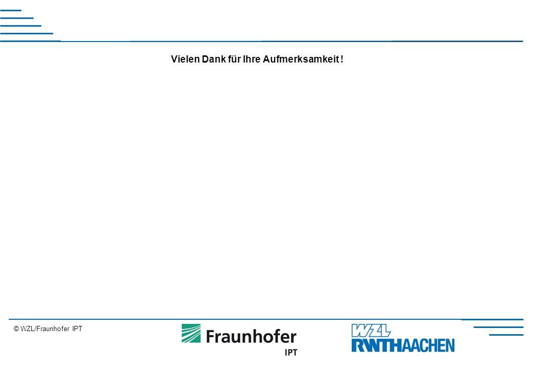 © WZL/Fraunhofer IPT Erweiterung Vielen Dank für Ihre Aufmerksamkeit !