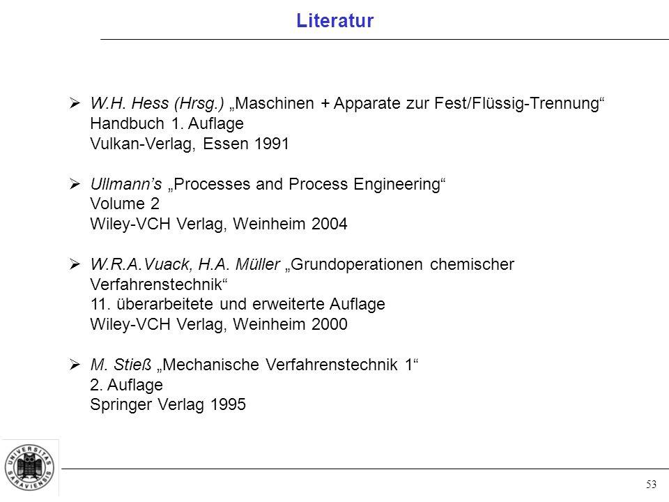 """53  W.H. Hess (Hrsg.) """"Maschinen + Apparate zur Fest/Flüssig-Trennung Handbuch 1."""