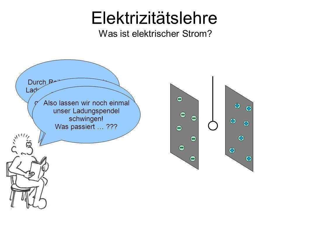 Elektrizitätslehre Was ist elektrischer Strom.Durch Reibung haben wir Ladungen trennen können.