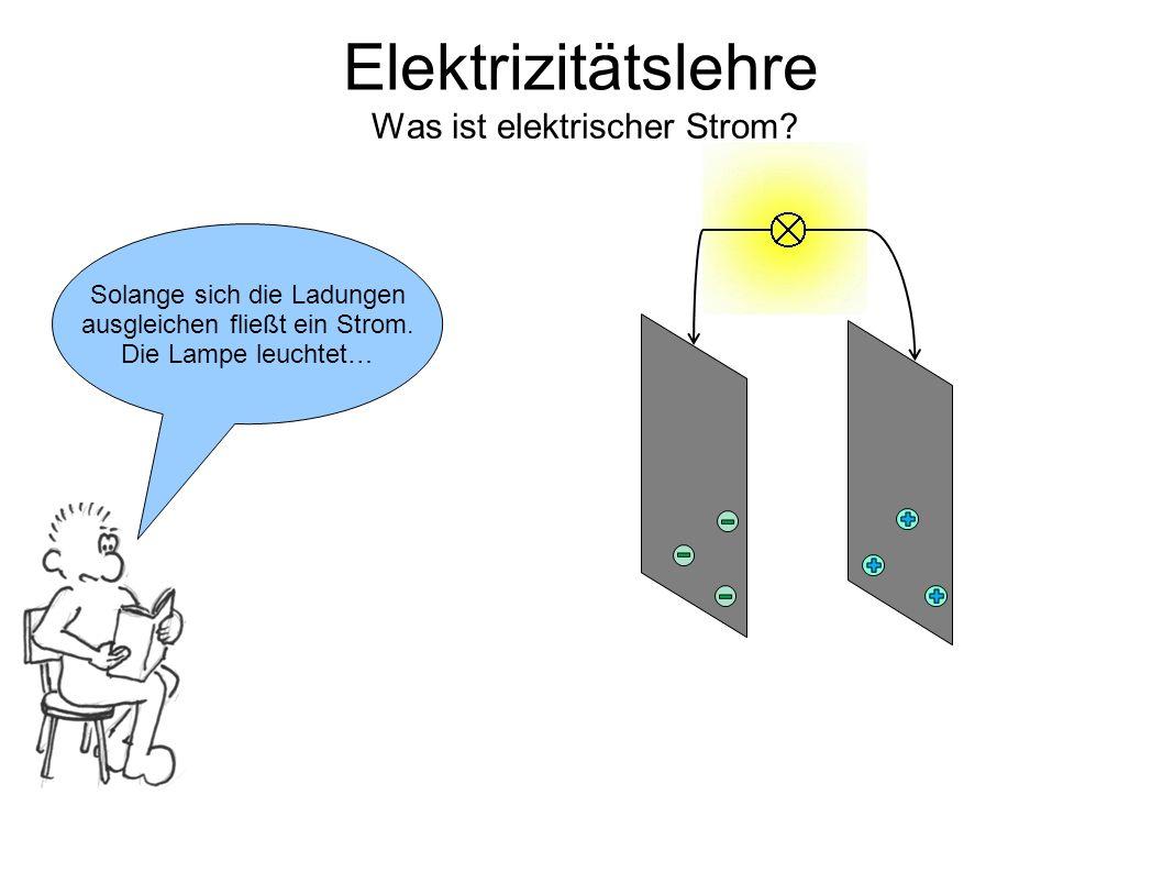 Elektrizitätslehre Was ist elektrischer Strom.