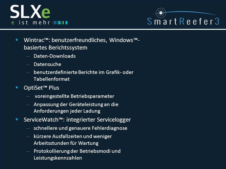  Wintrac™: benutzerfreundliches, Windows™- basiertes Berichtssystem – Daten-Downloads – Datensuche – benutzerdefinierte Berichte im Grafik- oder Tabe