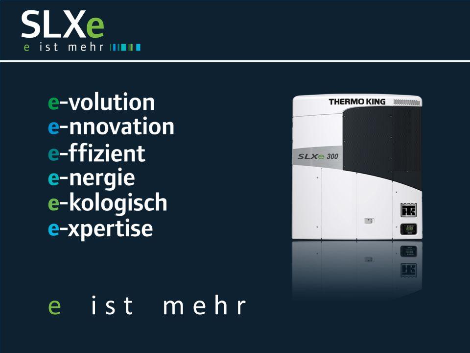 SLXe : Transportkühlung der nächsten Generation  Hochmoderne Technologie  Optimierte Produktivität  Niedrige Betriebskosten  Maximaler Ladungsschutz  Beeindruckende Innovation  Maximale Rentabilität  Bessere Umweltverträglichkeit