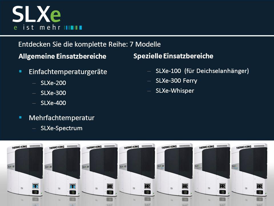 Allgemeine Einsatzbereiche  Einfachtemperaturgeräte – SLXe-200 – SLXe-300 – SLXe-400  Mehrfachtemperatur – SLXe-Spectrum Entdecken Sie die komplette