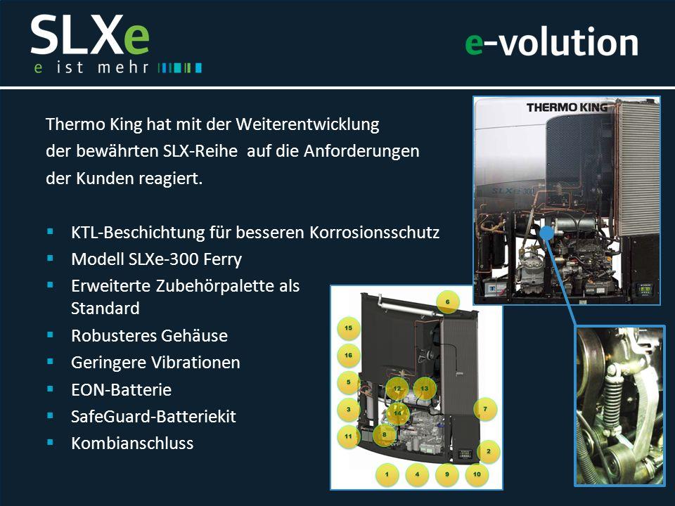 Thermo King hat mit der Weiterentwicklung der bewährten SLX-Reihe auf die Anforderungen der Kunden reagiert.  KTL-Beschichtung für besseren Korrosion