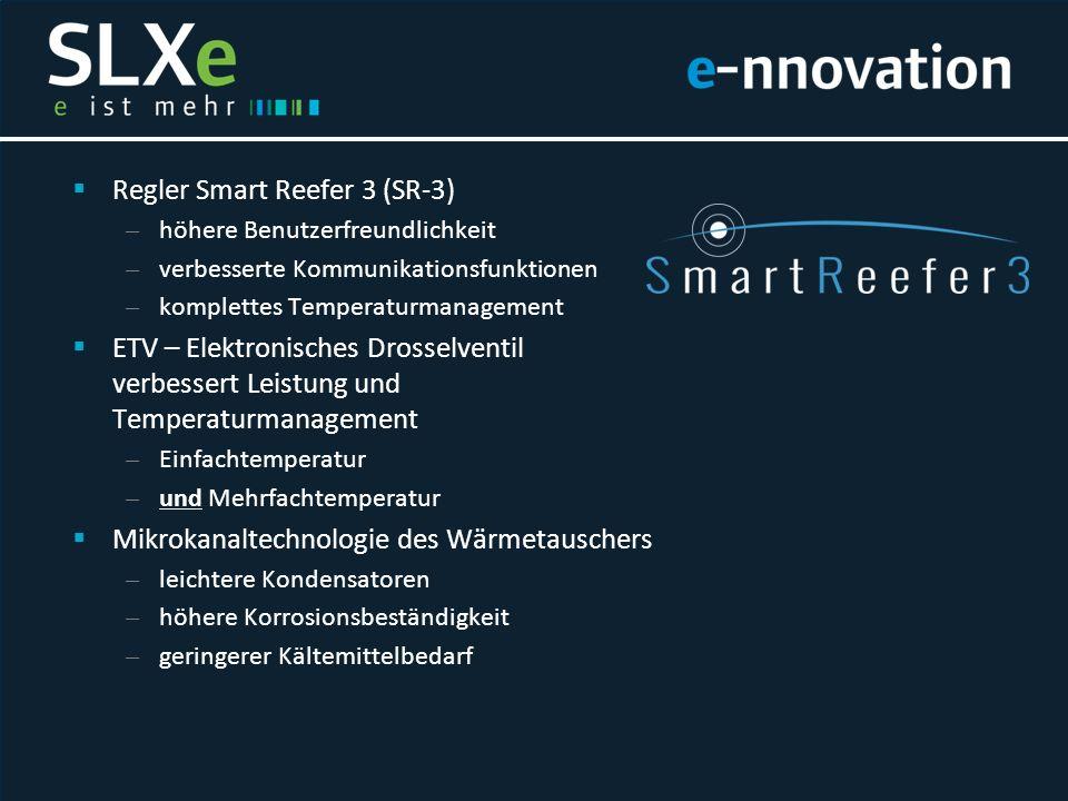  Regler Smart Reefer 3 (SR-3) – höhere Benutzerfreundlichkeit – verbesserte Kommunikationsfunktionen – komplettes Temperaturmanagement  ETV – Elektr