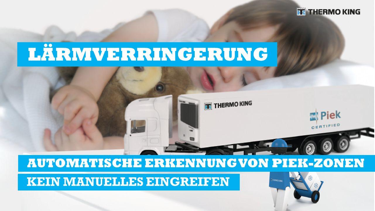 AUTOMATISCHE ERKENNUNG VON PIEK-ZONEN KEIN MANUELLES EINGREIFEN LÄRMVERRINGERUNG
