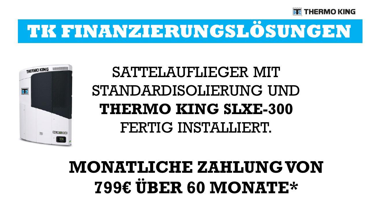 SATTELAUFLIEGER MIT STANDARDISOLIERUNG UND THERMO KING SLXE-300 FERTIG INSTALLIERT.