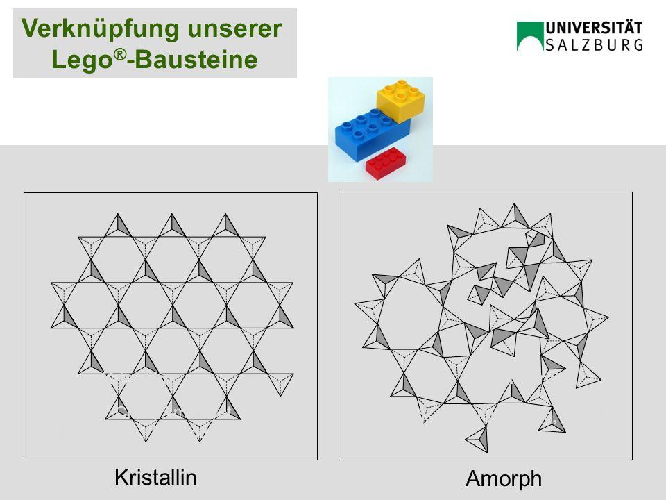 KristallinAmorph Quarz, Citrin, Amethyst, Rauch- und Rosenquarz Biogenes SiO 2, Opale, Achat Kristallin Amorph Verknüpfung unserer Lego ® -Bausteine