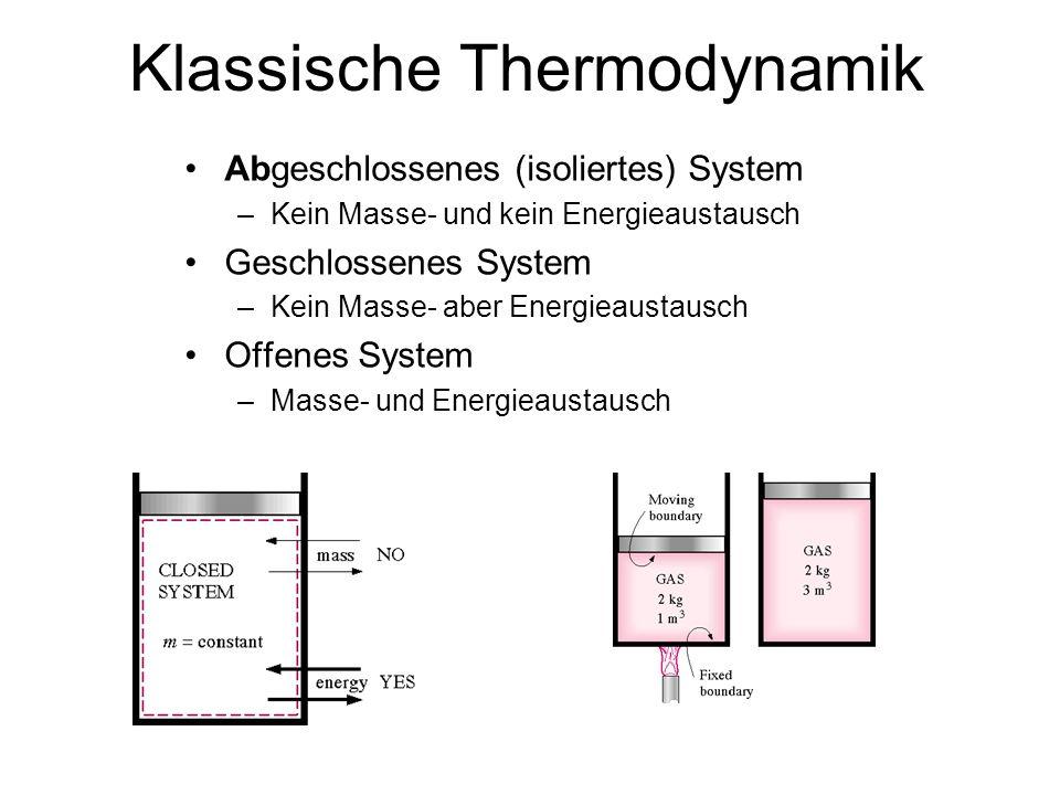 E=mc 2 Geschlossene Systeme –Kein Energieaustausch Offene (dissipative) Systeme –Energieaustausch