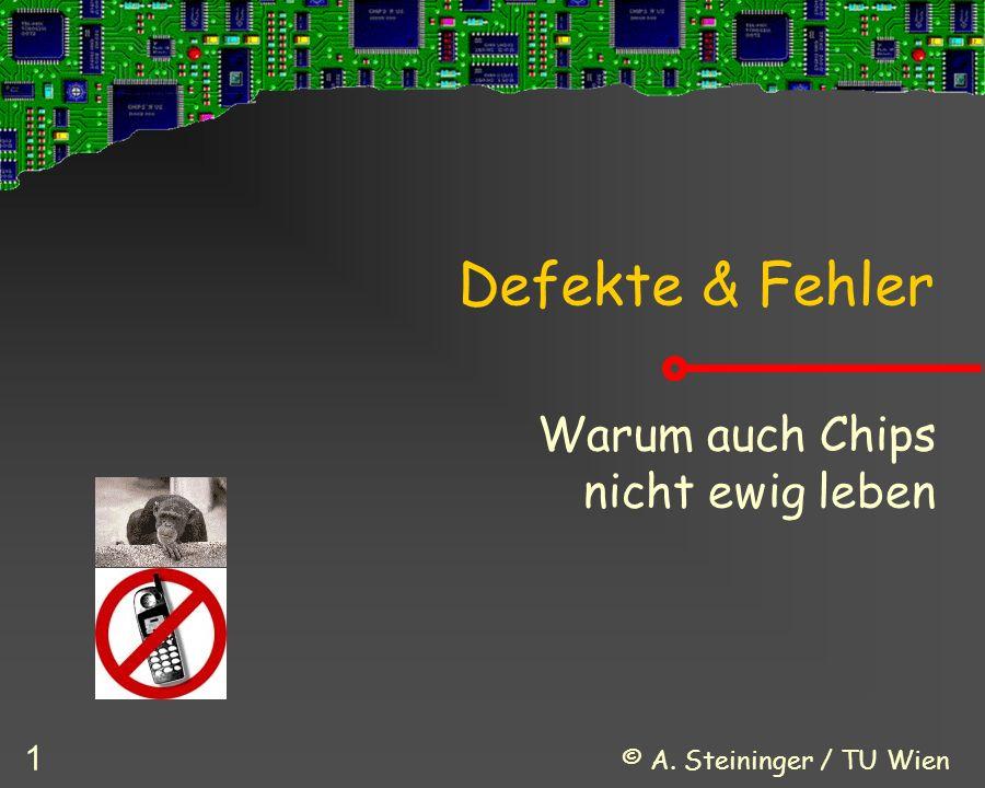 © A.Steininger / TU Wien 32 Welche Ursachen für Ausfälle gibt es.