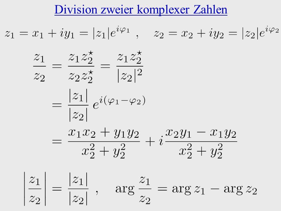 Division zweier komplexer Zahlen