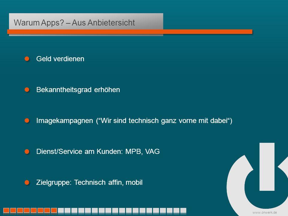 www.onwerk.de Warum Apps.