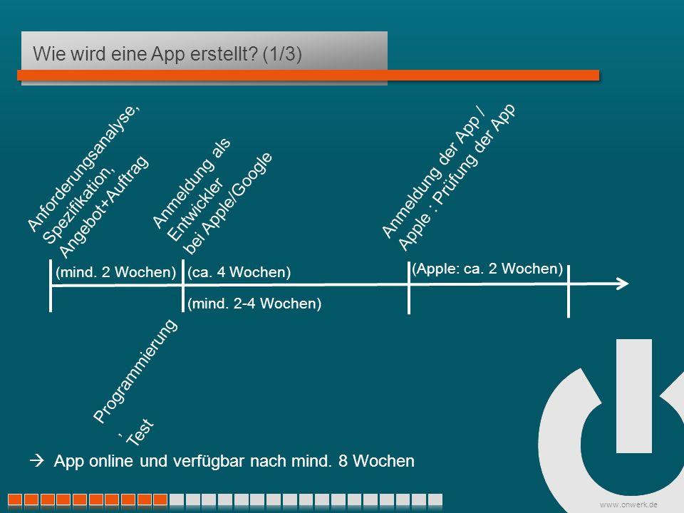 www.onwerk.de Wie wird eine App erstellt.