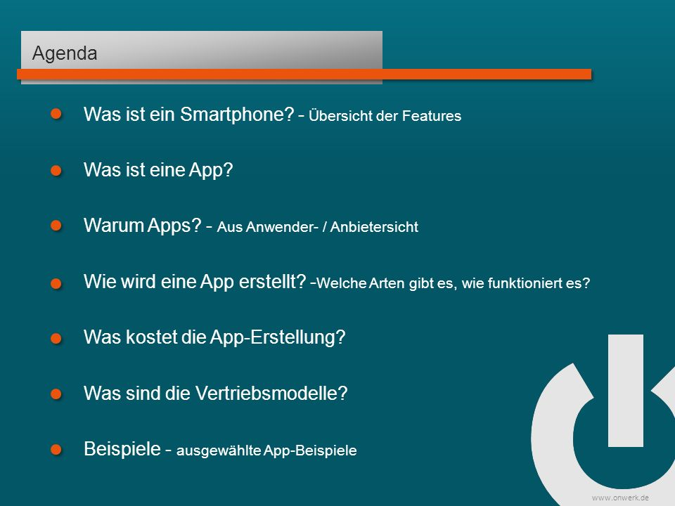 www.onwerk.de Beispiele Mobiles Marketing mit Smartphone Apps