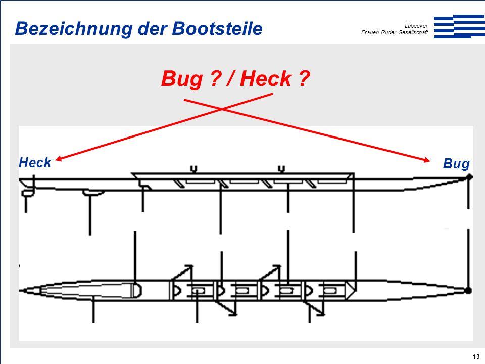 Lübecker Frauen-Ruder-Gesellschaft 13 Bug / Heck Heck Bug Bezeichnung der Bootsteile