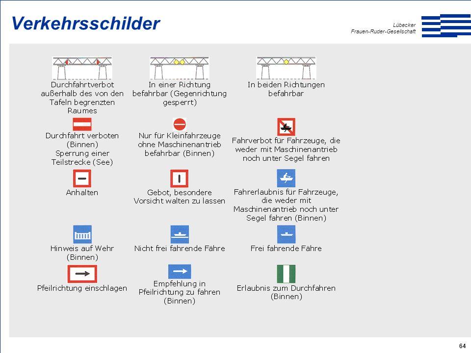 Lübecker Frauen-Ruder-Gesellschaft 64 Verkehrsschilder