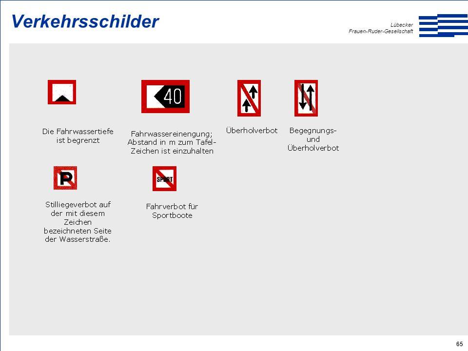 Lübecker Frauen-Ruder-Gesellschaft 65 Verkehrsschilder