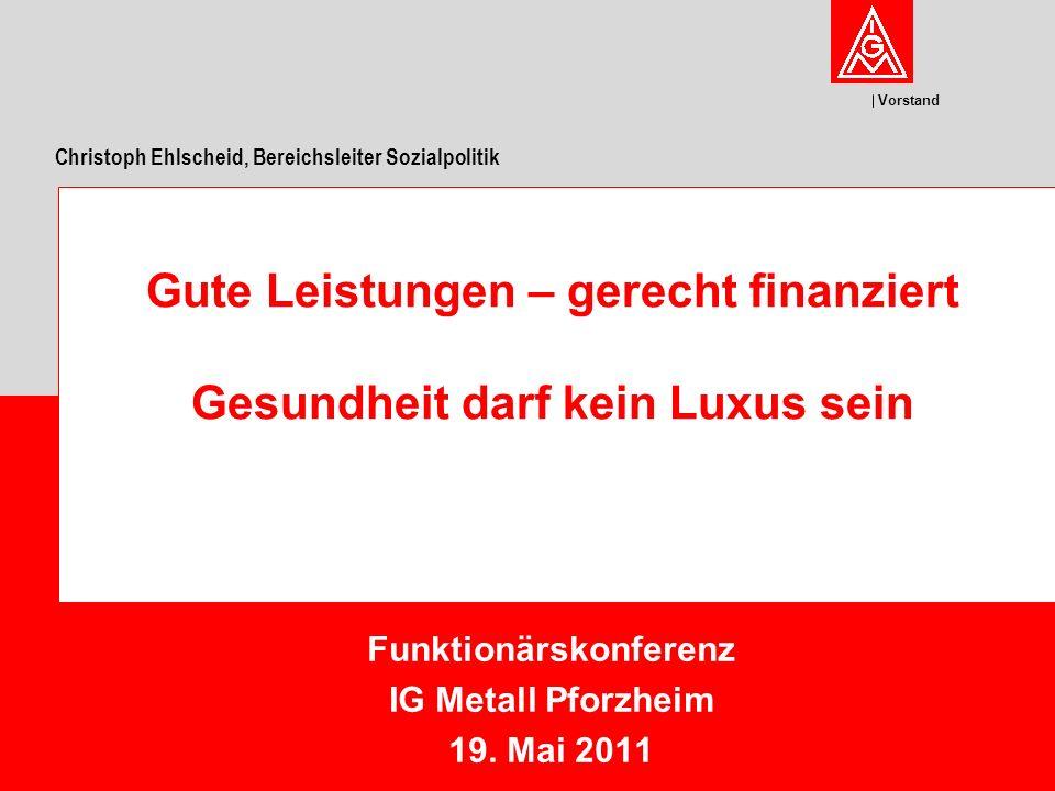 Vorstand Funktionärskonferenz IG Metall Pforzheim 19.