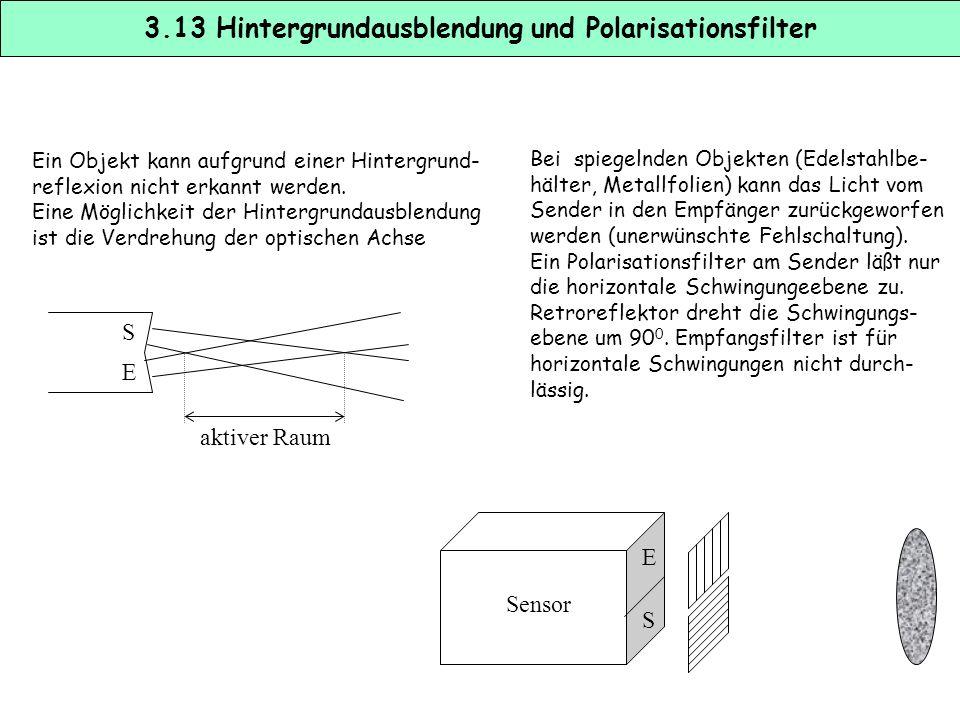 IFIF 10 nA µAµA 1 d (mm)500 Nutzsignal Leuchtstoff- lampe 40 W Glühlampe 100 W Störunterdrückung durch optische Modulation I Störgleich- licht ISIS t