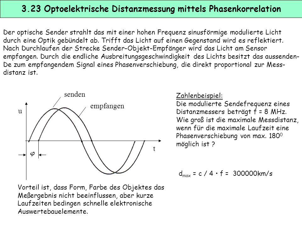 Die Triangulation ist ein weitverbreitetes Verfahren zur optischen Distanzmessung. Es wird dabei ein fokussierter Lichtstrahl ausgesendet und am Meßob