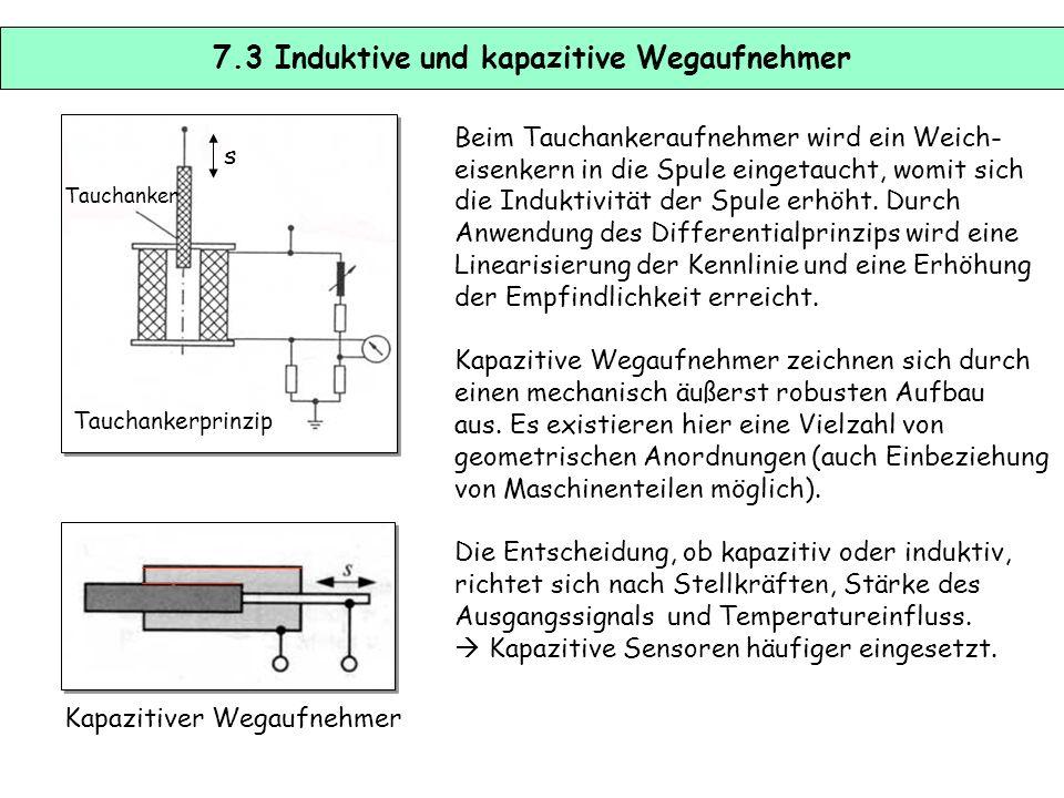 7.2 Potentiometer zur Weg- und Winkelerfassung Mit Potentiometern kann auf einfache Weise ein Drehwinkel oder eine Wegverschiebung erfasst werden. Sie