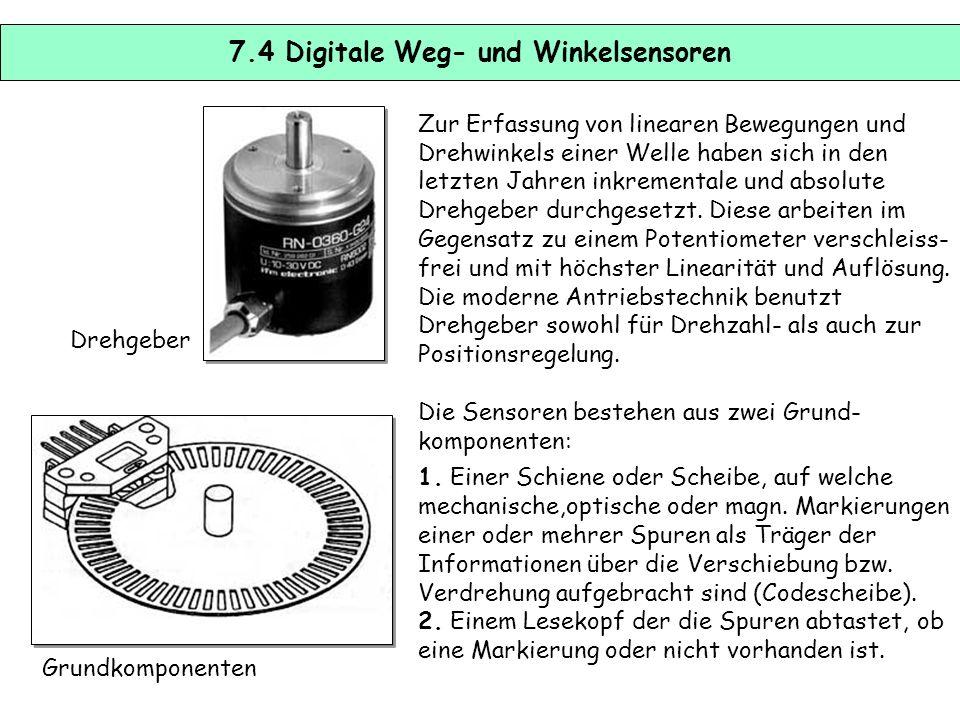 7.3 Induktive und kapazitive Wegaufnehmer Beim Tauchankeraufnehmer wird ein Weich- eisenkern in die Spule eingetaucht, womit sich die Induktivität der