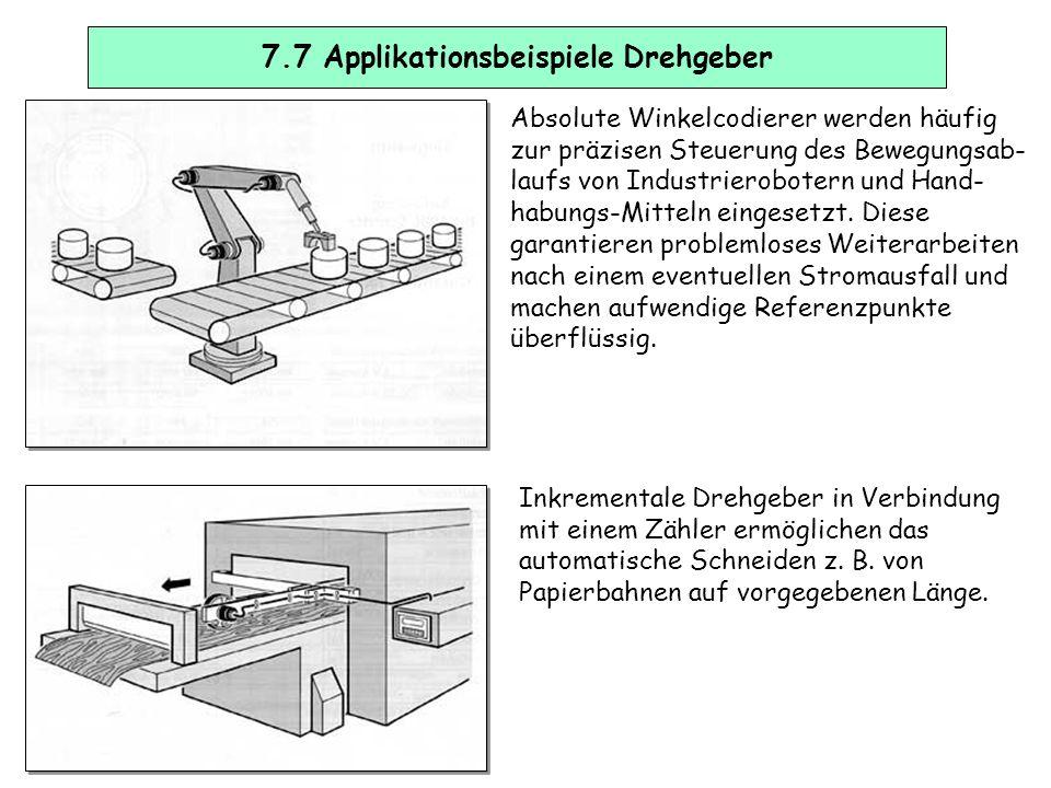 7.6 Erhöhung der Auflösung, Drehrichtungserkennung Inkremetale Drehgeber liefern bei jeder vollständig ausgeführten Umdrehung der Welle eine bestimmte