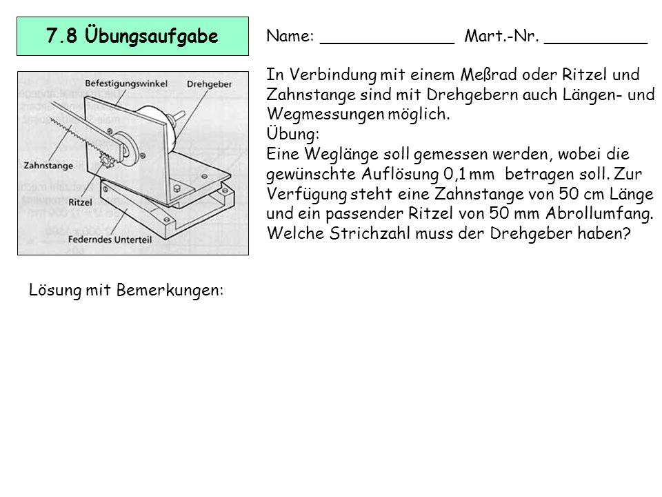 7.7 Applikationsbeispiele Drehgeber Absolute Winkelcodierer werden häufig zur präzisen Steuerung des Bewegungsab- laufs von Industrierobotern und Hand