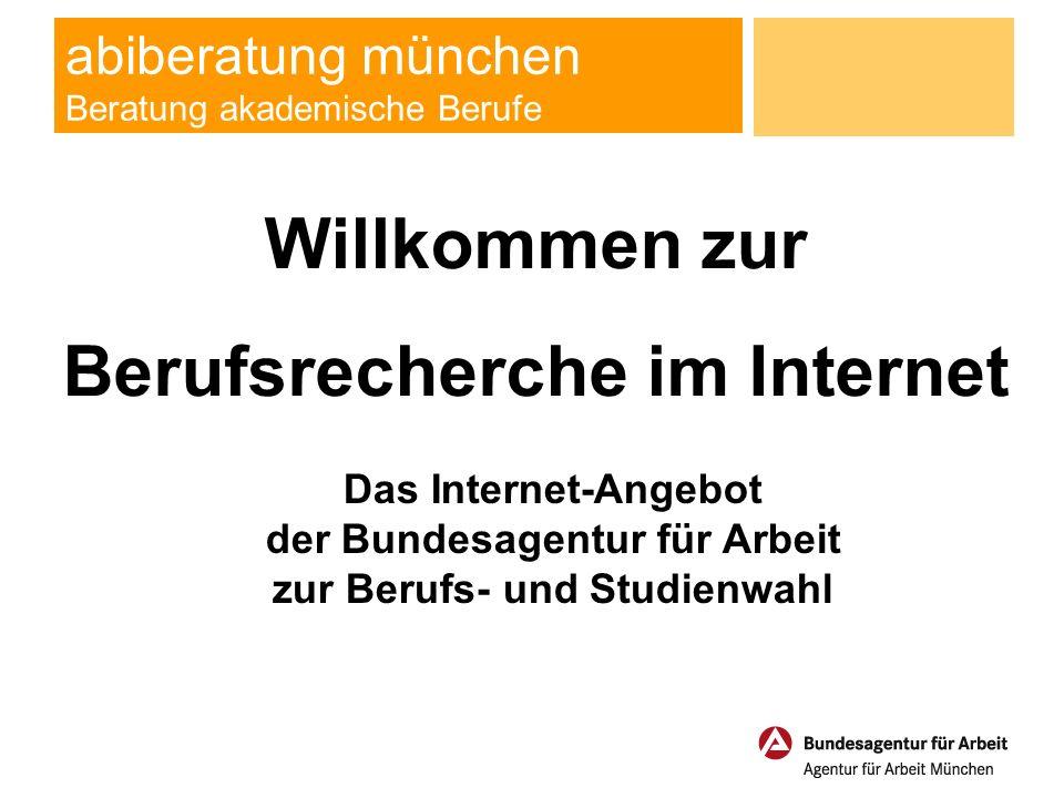 abiberatung münchen Beratung akademische Berufe Willkommen zur Berufsrecherche im Internet Das Internet-Angebot der Bundesagentur für Arbeit zur Berufs- und Studienwahl