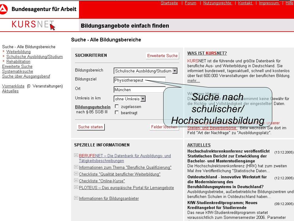 abiberatung münchen Beratung akademische Berufe Suche nach schulischer/ Hochschulausbildung
