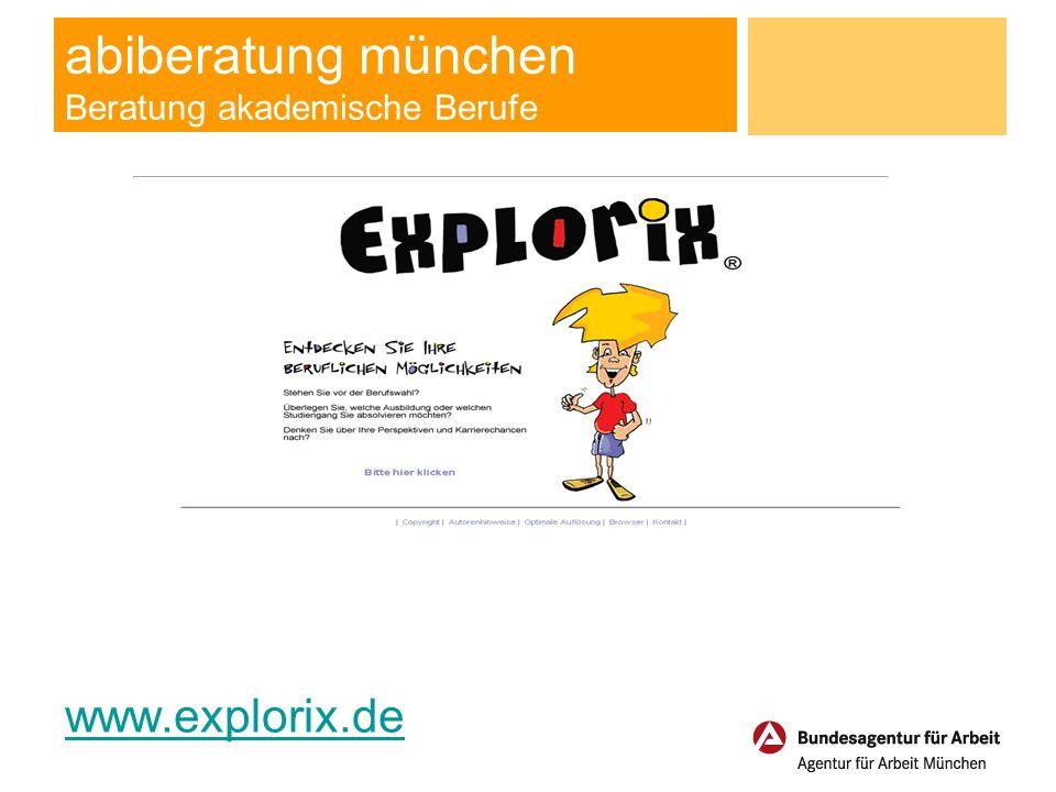 abiberatung münchen Beratung akademische Berufe www.explorix.de