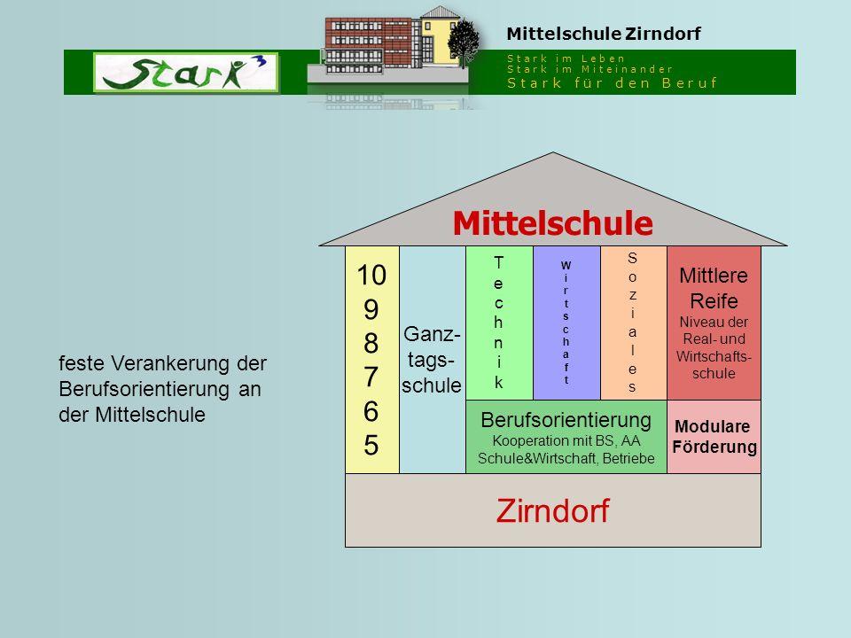 S t a r k i m L e b e n S t a r k i m M i t e i n a n d e r S t a r k f ü r d e n B e r u f Mittelschule Zirndorf Ganz- tags- schule 10 9 8 7 6 5 Tech