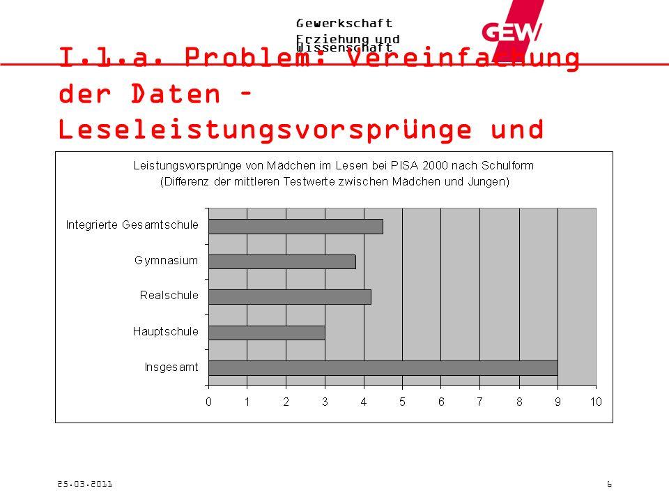 Gewerkschaft Erziehung und Wissenschaft 25.03.20116 I.1.a.