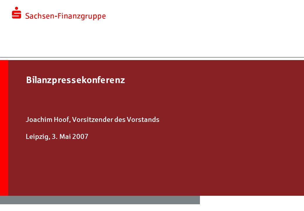 Bilanzpressekonferenz Joachim Hoof, Vorsitzender des Vorstands Leipzig, 3. Mai 2007