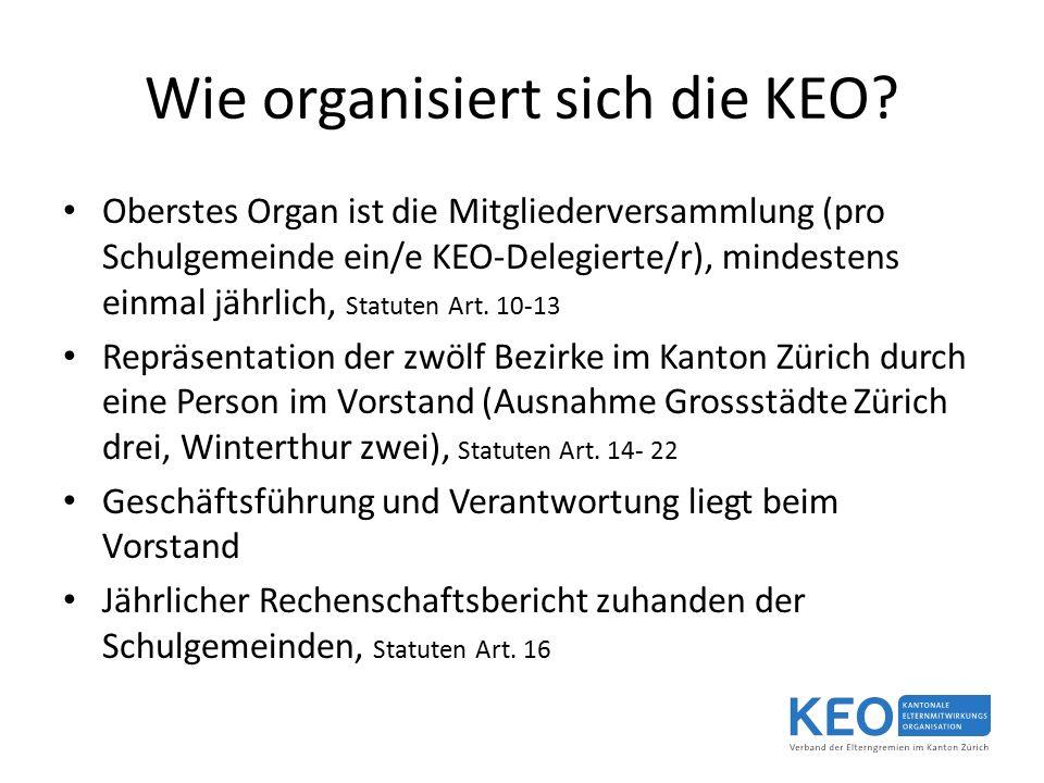Wie organisiert sich die KEO.