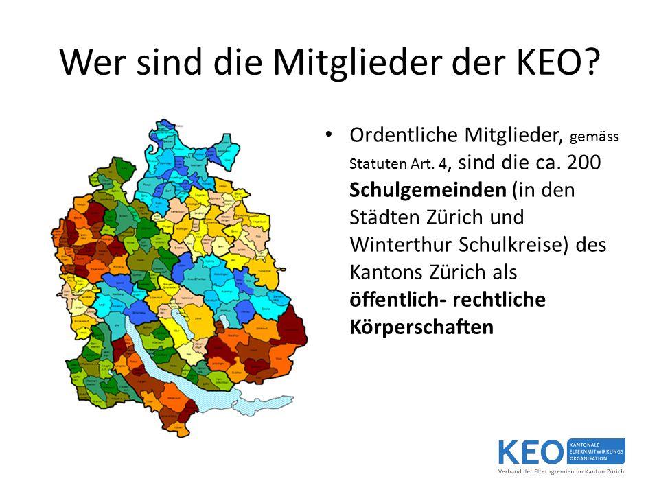 Wer sind die Mitglieder der KEO. Ordentliche Mitglieder, gemäss Statuten Art.